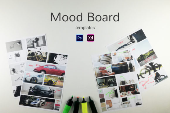 Mood Boards Graphic Web Elements By Web Donut