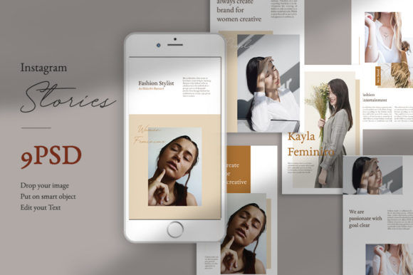 Download Free Moodboard Instagram Stories Templates Graphic By Qohhaarqhaz Creative Fabrica for Cricut Explore, Silhouette and other cutting machines.