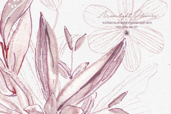 Moonlight Flowers Graphic Illustrations By webvilla - Image 6