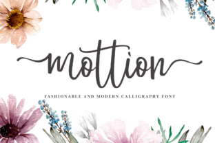 Print on Demand: Mottion Script & Handwritten Font By Haksen