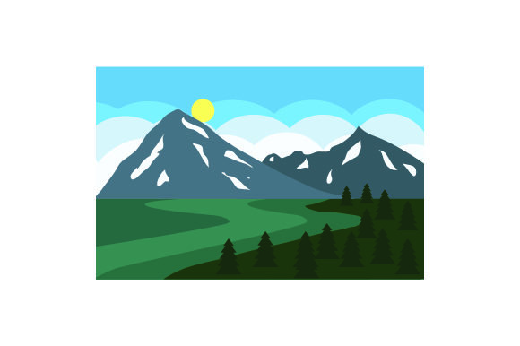 Download Free Mountain Scene Svg Cut File By Creative Fabrica Crafts for Cricut Explore, Silhouette and other cutting machines.