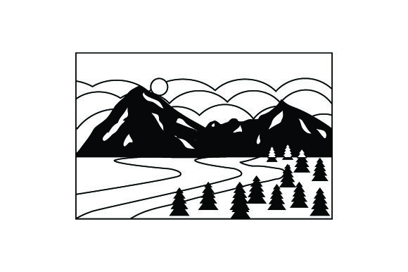 Mountain Scene Nature & Outdoors Craft Cut File By Creative Fabrica Crafts - Image 2