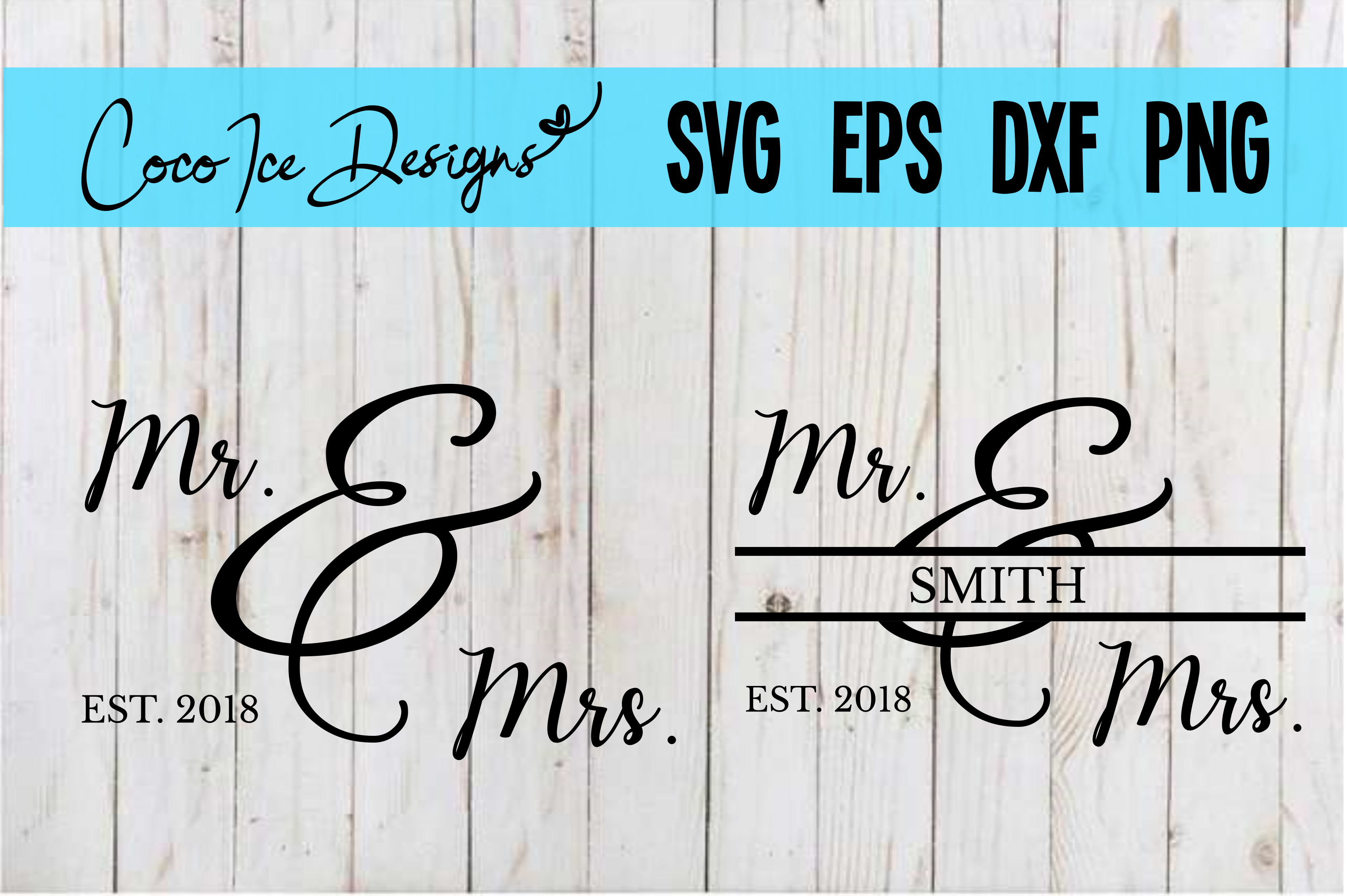 Download Free Mr Mrs Wedding Anniversary Graphic By Cocoicedesigns for Cricut Explore, Silhouette and other cutting machines.