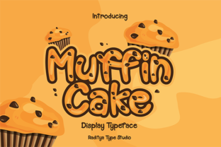 Muffin Cake Display Font By 24raditya