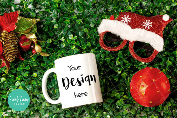Download Free Mug Mock Up Christmas Graphic By Pixel View Design Creative for Cricut Explore, Silhouette and other cutting machines.