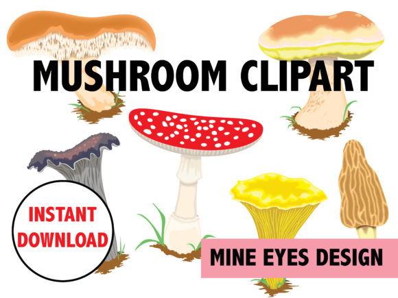 Download Free Mushroom Clipart Graphic By Mine Eyes Design Creative Fabrica for Cricut Explore, Silhouette and other cutting machines.