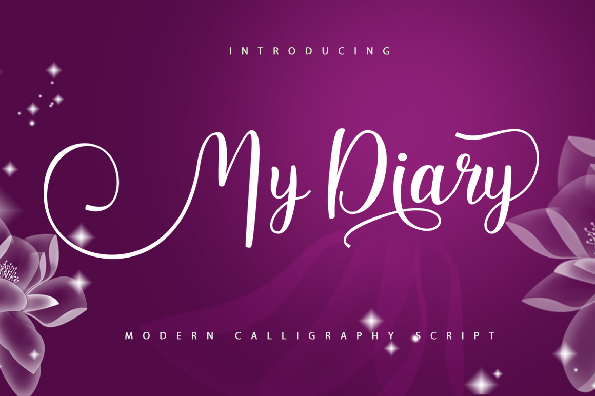 Download Free My Diary Font By Posts Type Creative Fabrica for Cricut Explore, Silhouette and other cutting machines.