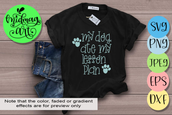 My Dog Ate My Lesson Plan Graphic By MidmagArt