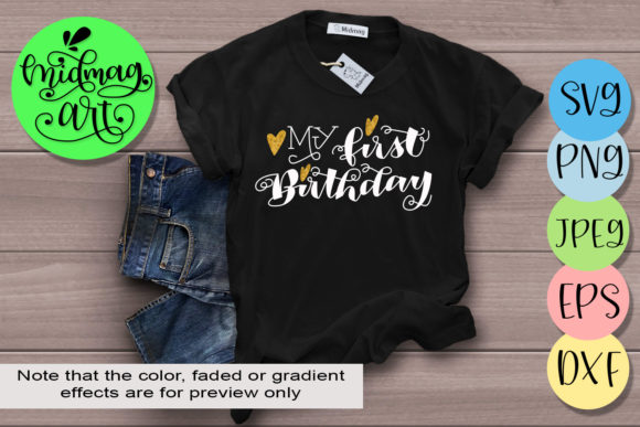 Download Free My First Birthday Grafico Por Midmagart Creative Fabrica for Cricut Explore, Silhouette and other cutting machines.
