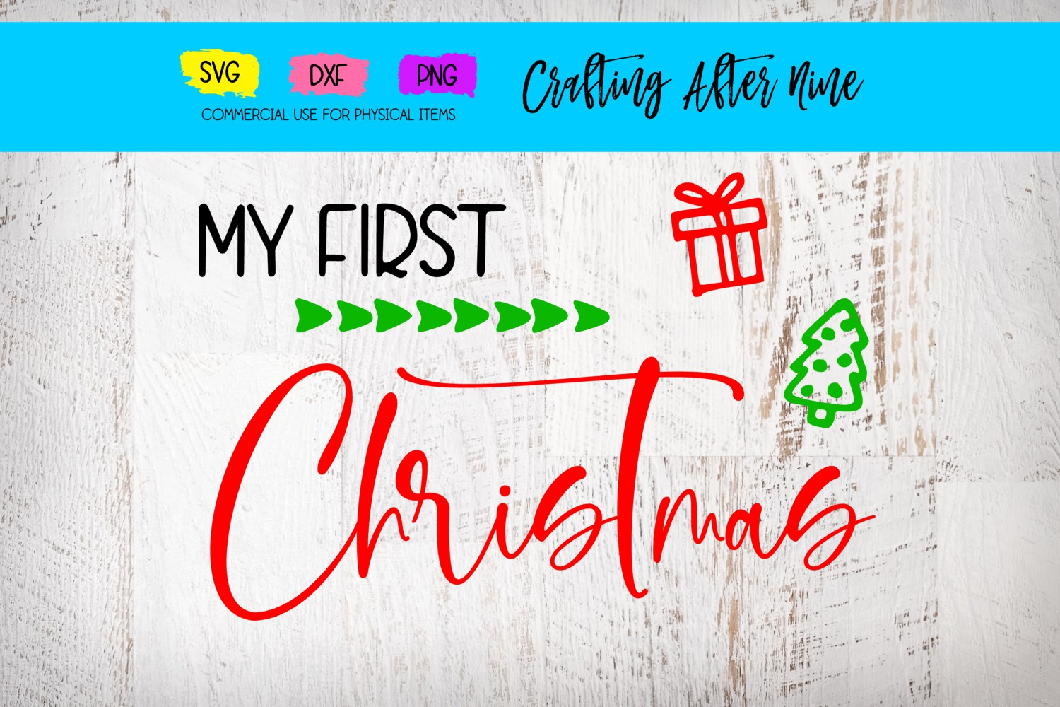 My First Christmas Graphic By Crafting After Nine Creative Fabrica
