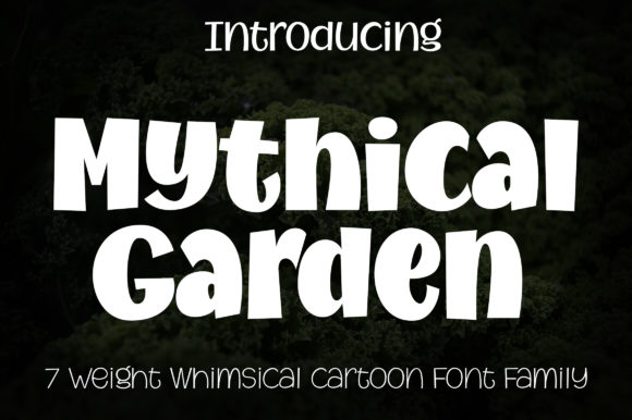 Print on Demand: Mythical Garden Display Font By Royaltype