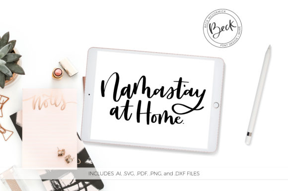 Download Free Namastay At Home Graphic By Beckmccormick Creative Fabrica for Cricut Explore, Silhouette and other cutting machines.