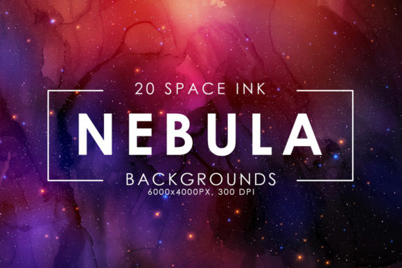 Print on Demand: Nebula Ink Backgrounds Graphic Backgrounds By ArtistMef