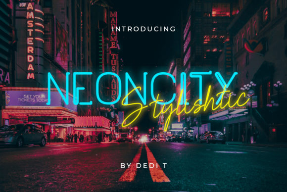 Print on Demand: Neoncity Display Font By miracleboykenzie