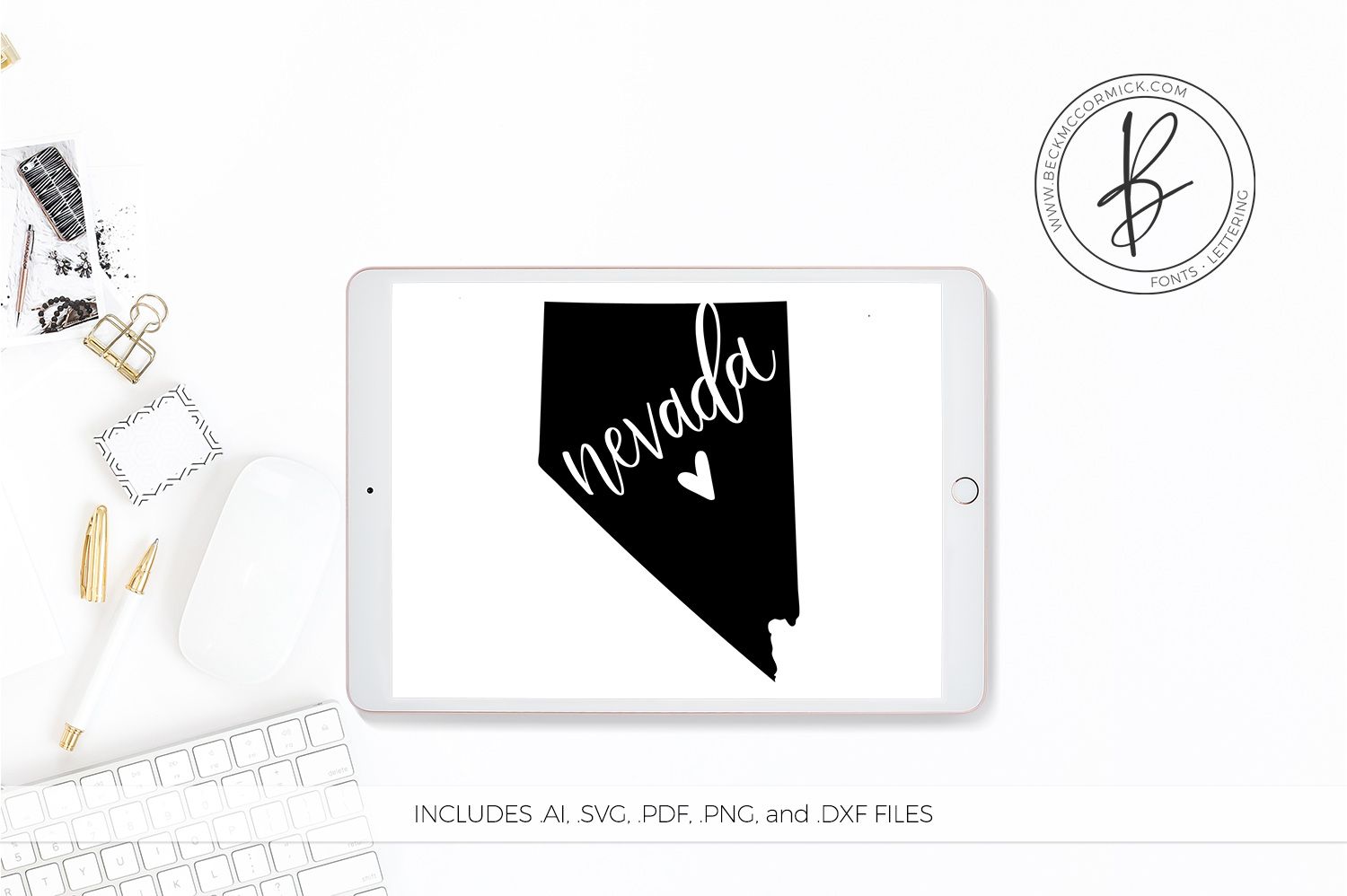 Download Free Nevada Heart Graphic By Beckmccormick Creative Fabrica for Cricut Explore, Silhouette and other cutting machines.