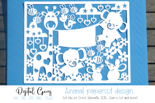 New Baby, Animal Papercut Design Graphic By Digital Gems