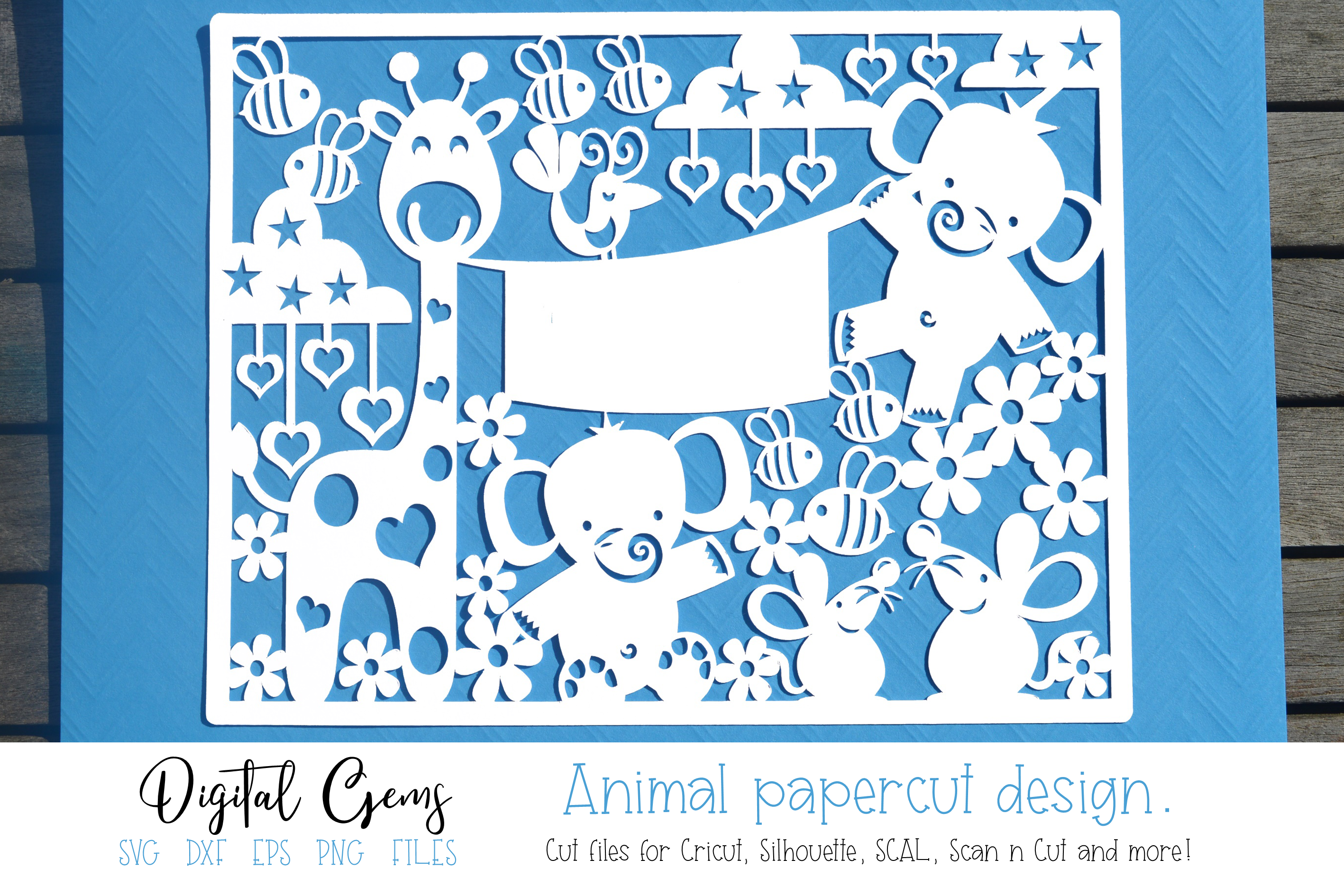 New Baby Animal Papercut Design Graphic By Digital Gems