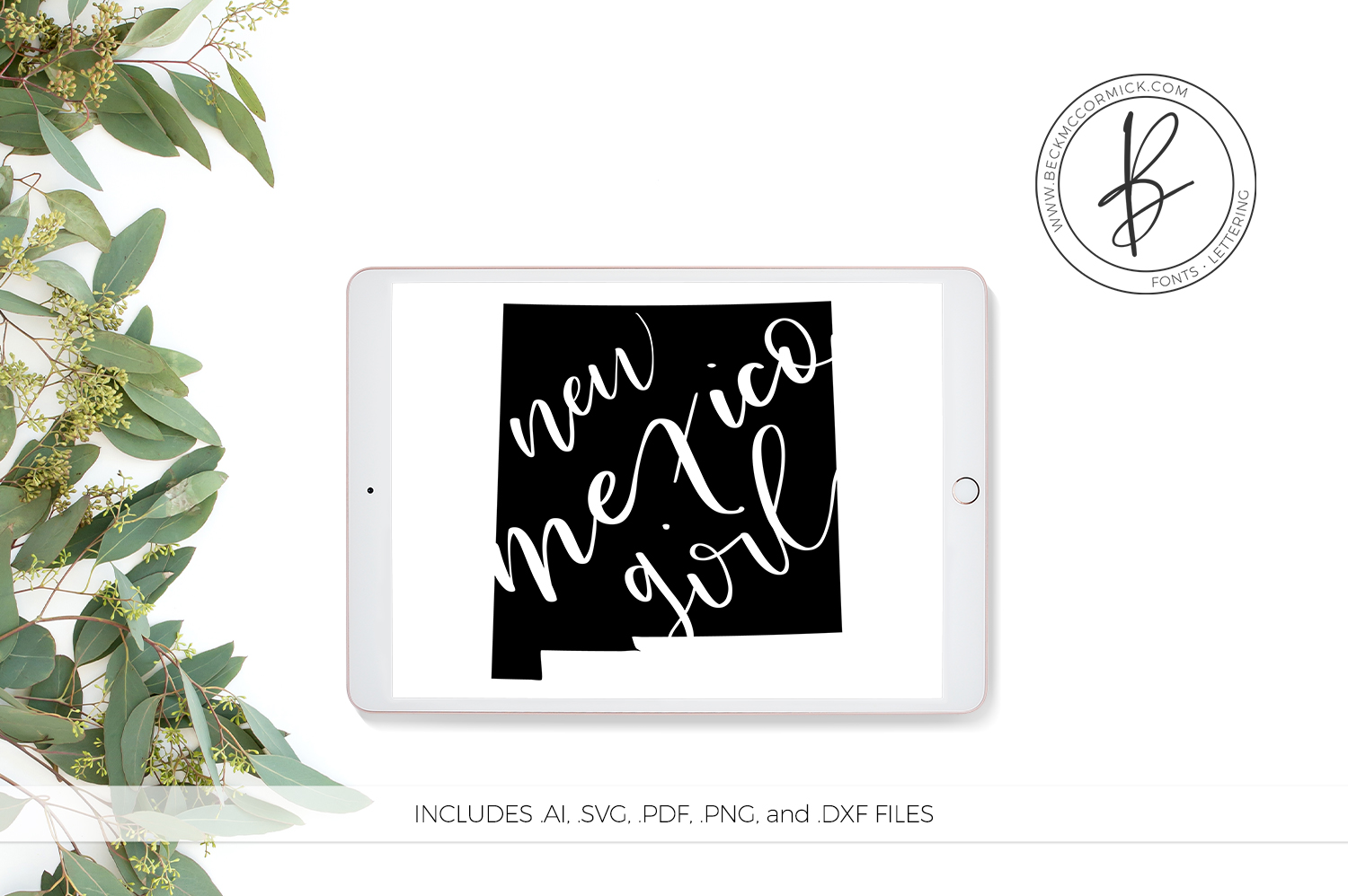 Download Free New Mexico Girl Graphic By Beckmccormick Creative Fabrica for Cricut Explore, Silhouette and other cutting machines.