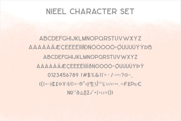 Print on Demand: Nieel Display Font By mrkhoir012 - Image 11