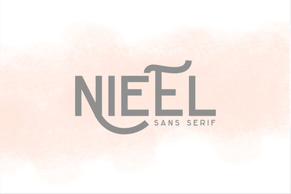 Print on Demand: Nieel Display Font By mrkhoir012 - Image 1