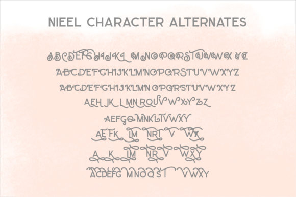 Print on Demand: Nieel Display Font By mrkhoir012 - Image 9