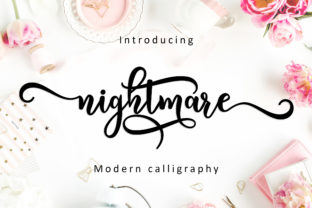 Nightmare Script Font By Amarlettering