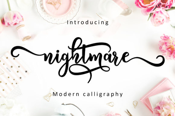 Nightmare Script Font By Amarlettering Image 1
