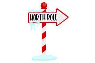 North Pole Sign Christmas Craft Cut File By Creative Fabrica Crafts