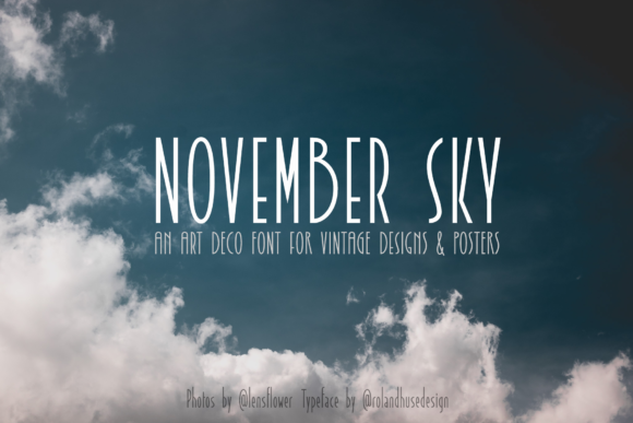 Print on Demand: November Sky Sans Serif Font By Roland Hüse Design