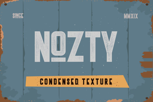 Print on Demand: Nozty Display Font By Vz_Type