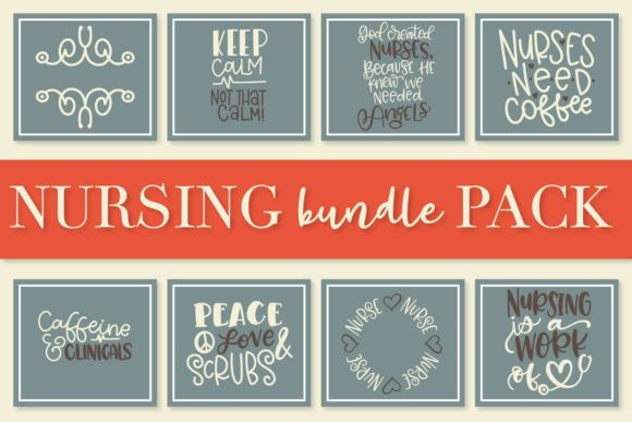 Print on Demand: Nurse Bundle - Hand Lettered Designs Graphic Crafts By Justina Tracy - Image 2