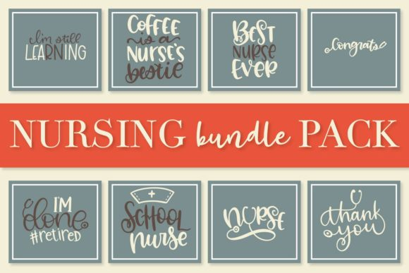 Print on Demand: Nurse Bundle - Hand Lettered Designs Graphic Crafts By Justina Tracy - Image 3