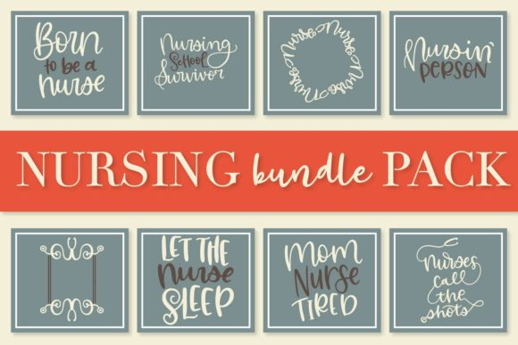 Print on Demand: Nurse Bundle - Hand Lettered Designs Graphic Crafts By Justina Tracy - Image 4