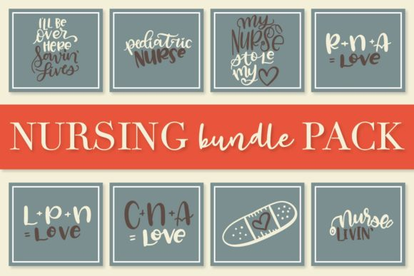 Print on Demand: Nurse Bundle - Hand Lettered Designs Graphic Crafts By Justina Tracy - Image 6