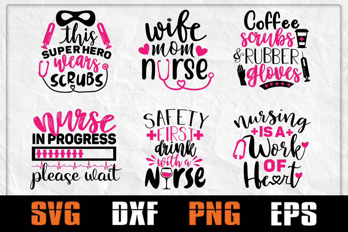 Download Free Nurse Bundle Nurse Life Graphic By Pathfinder Creative Fabrica for Cricut Explore, Silhouette and other cutting machines.