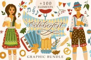 Print on Demand: Octoberfest Graphic Bundle Graphic Illustrations By Red Ink 1