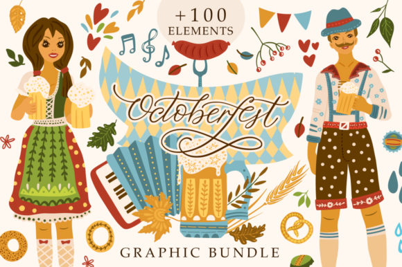 Print on Demand: Octoberfest Graphic Bundle Graphic Illustrations By Red Ink