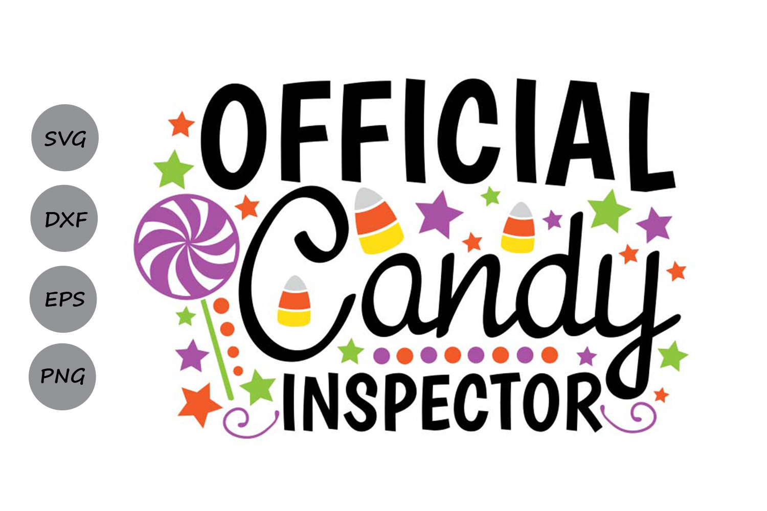 Download Free Official Candy Inspector Svg Grafik Von Cosmosfineart for Cricut Explore, Silhouette and other cutting machines.