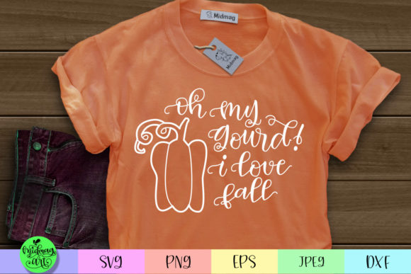 Download Free Oh My Gourd I Love Fall Svg Graphic By Midmagart Creative Fabrica for Cricut Explore, Silhouette and other cutting machines.