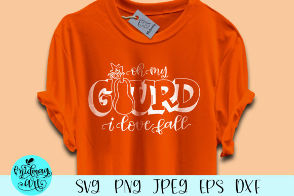 Download Free Oh My Gourd I Love Fall Graphic By Midmagart Creative Fabrica for Cricut Explore, Silhouette and other cutting machines.