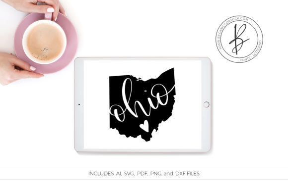 Download Free Ohio Heart Graphic By Beckmccormick Creative Fabrica for Cricut Explore, Silhouette and other cutting machines.