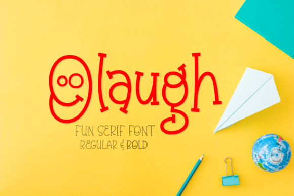 Print on Demand: Olaugh Family Script & Handwritten Font By Rifki (7ntypes)