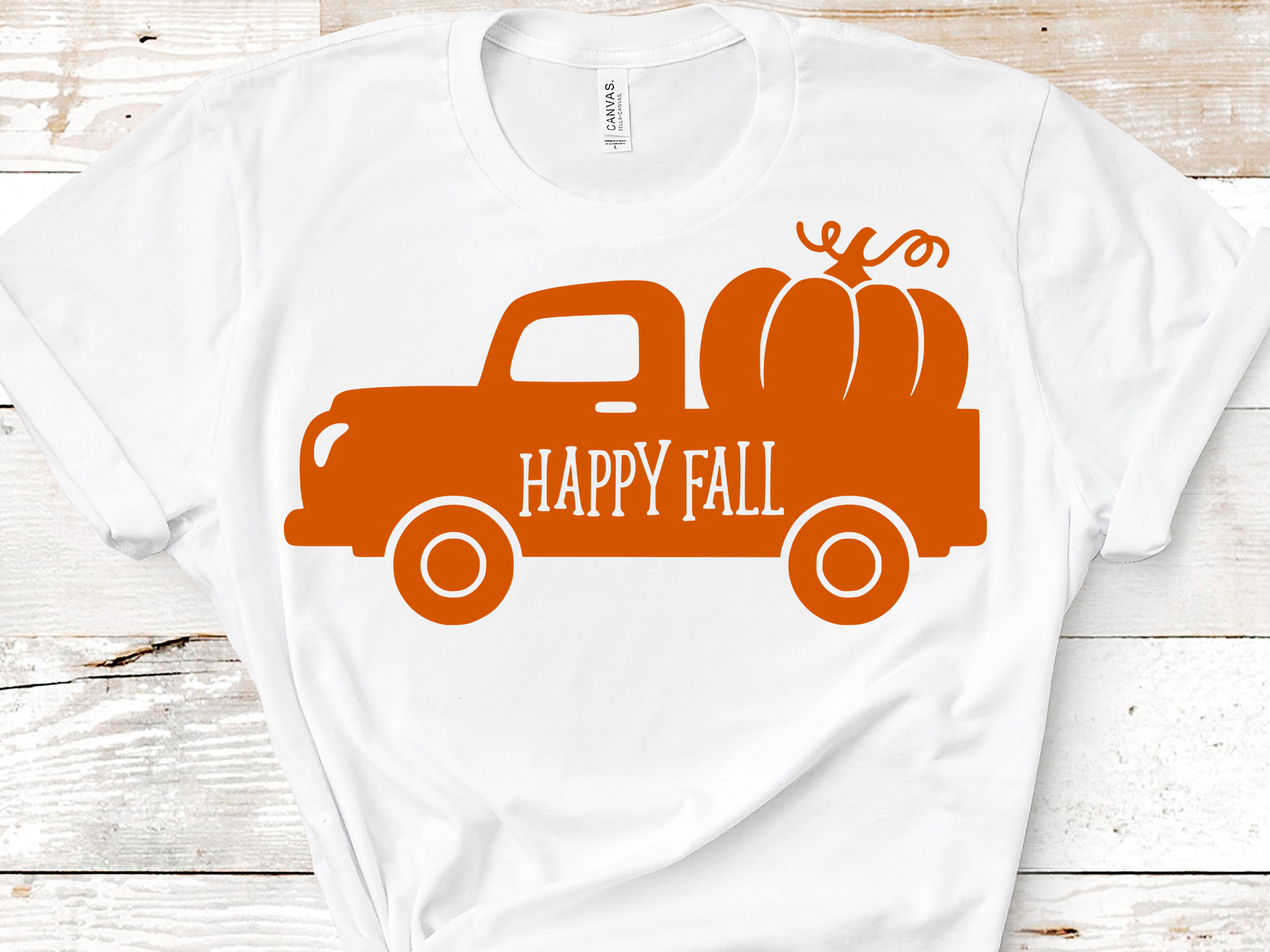 Download Free Old Vintage Fall Truck With Pumpkin Graphic By Mockup Venue for Cricut Explore, Silhouette and other cutting machines.