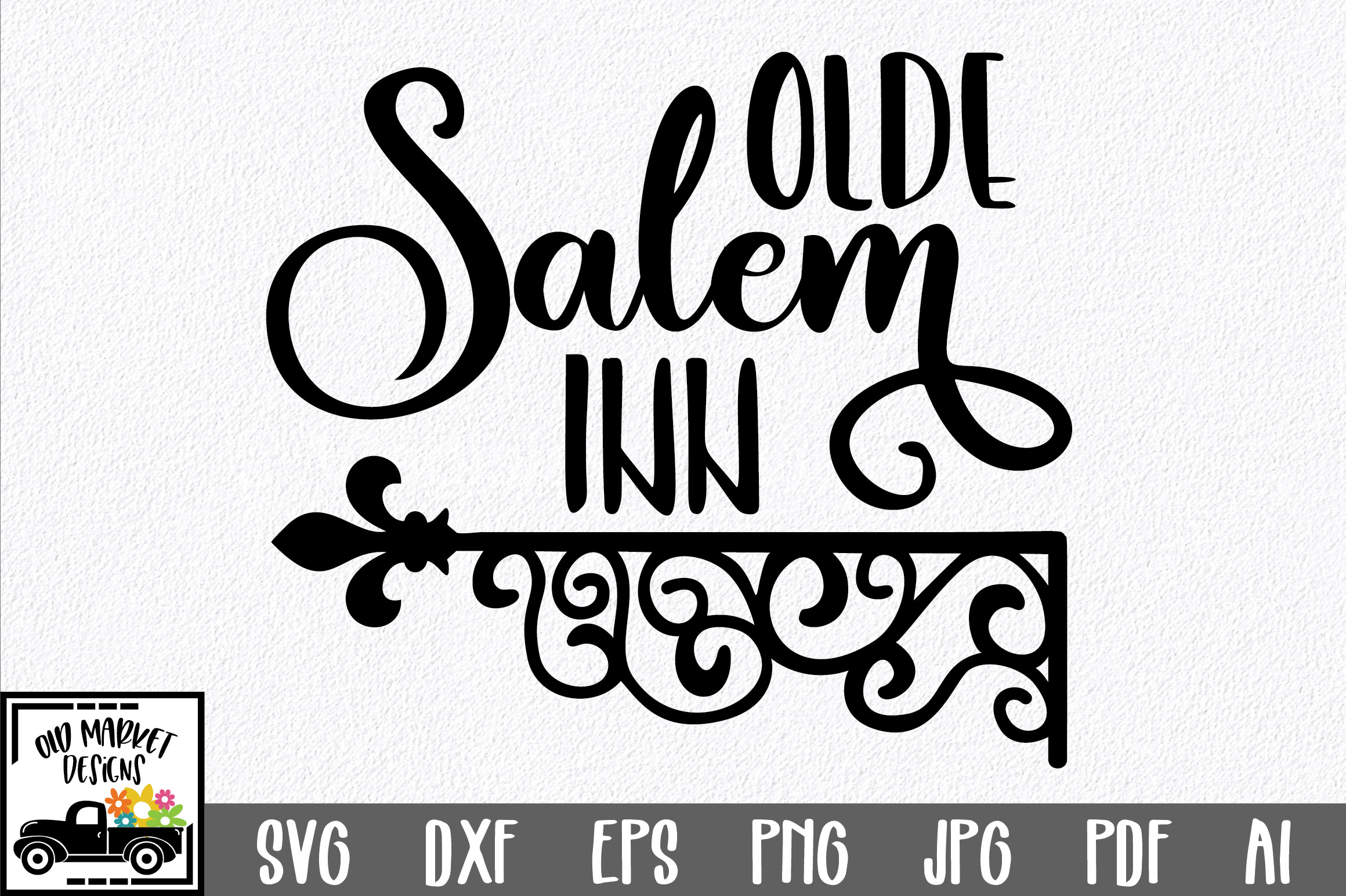 Download Free Olde Salem Inn Svg Cut File Graphic By Oldmarketdesigns for Cricut Explore, Silhouette and other cutting machines.