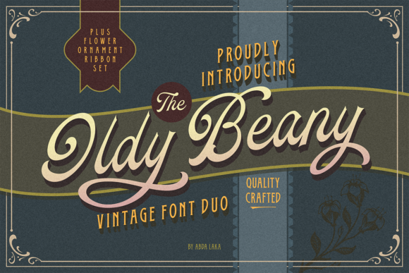 Print on Demand: Oldy Beany Duo Display Font By Abda Laka
