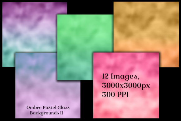 Print on Demand: Ombre Pastel Glass Backgrounds II Graphic Backgrounds By SapphireXDesigns - Image 2