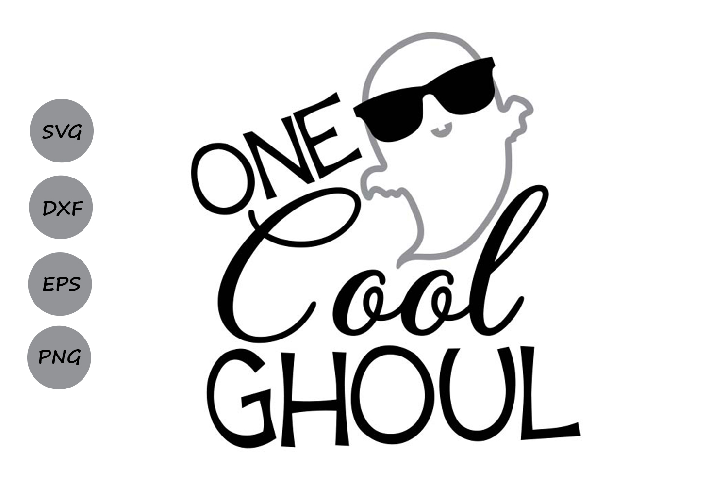 Download Free One Cool Ghoul Svg Graphic By Cosmosfineart Creative Fabrica for Cricut Explore, Silhouette and other cutting machines.