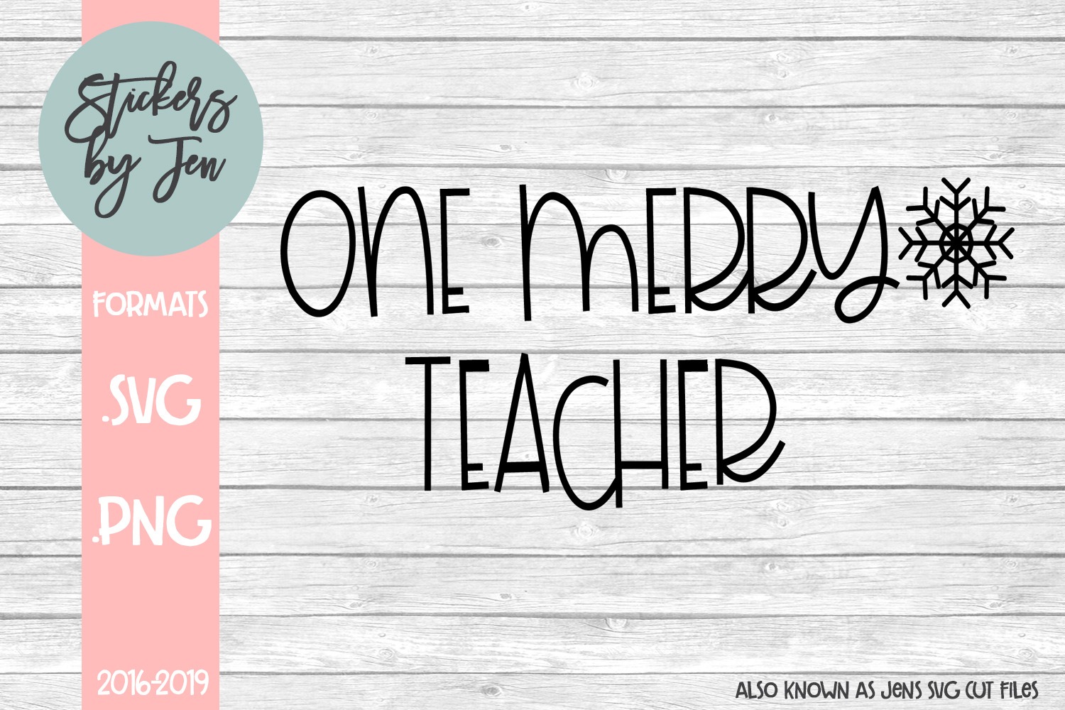 Download Free One Merry Teacher Graphic By Stickers By Jennifer Creative Fabrica for Cricut Explore, Silhouette and other cutting machines.