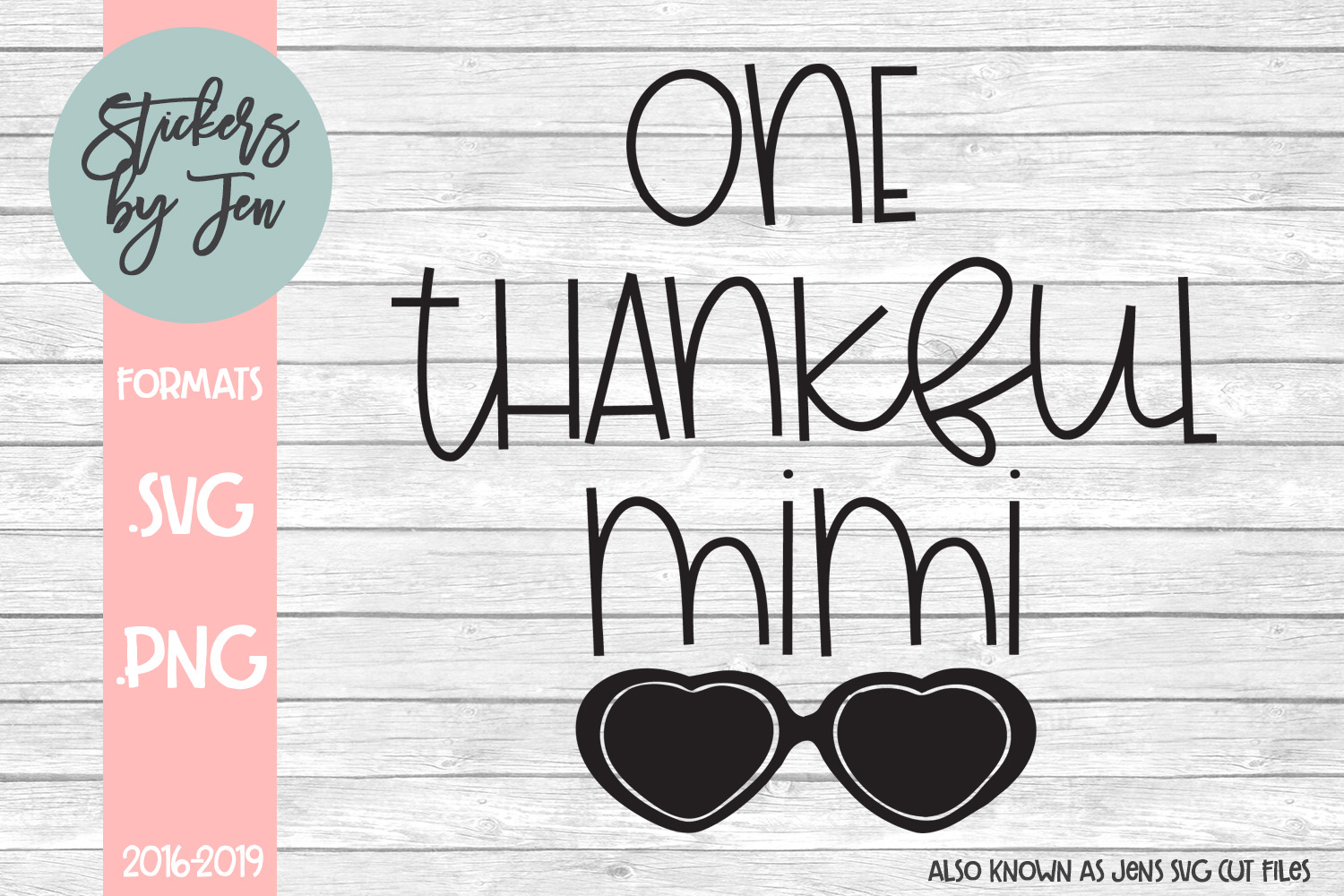 Download Free One Thankful Mimi Graphic By Stickers By Jennifer Creative Fabrica for Cricut Explore, Silhouette and other cutting machines.