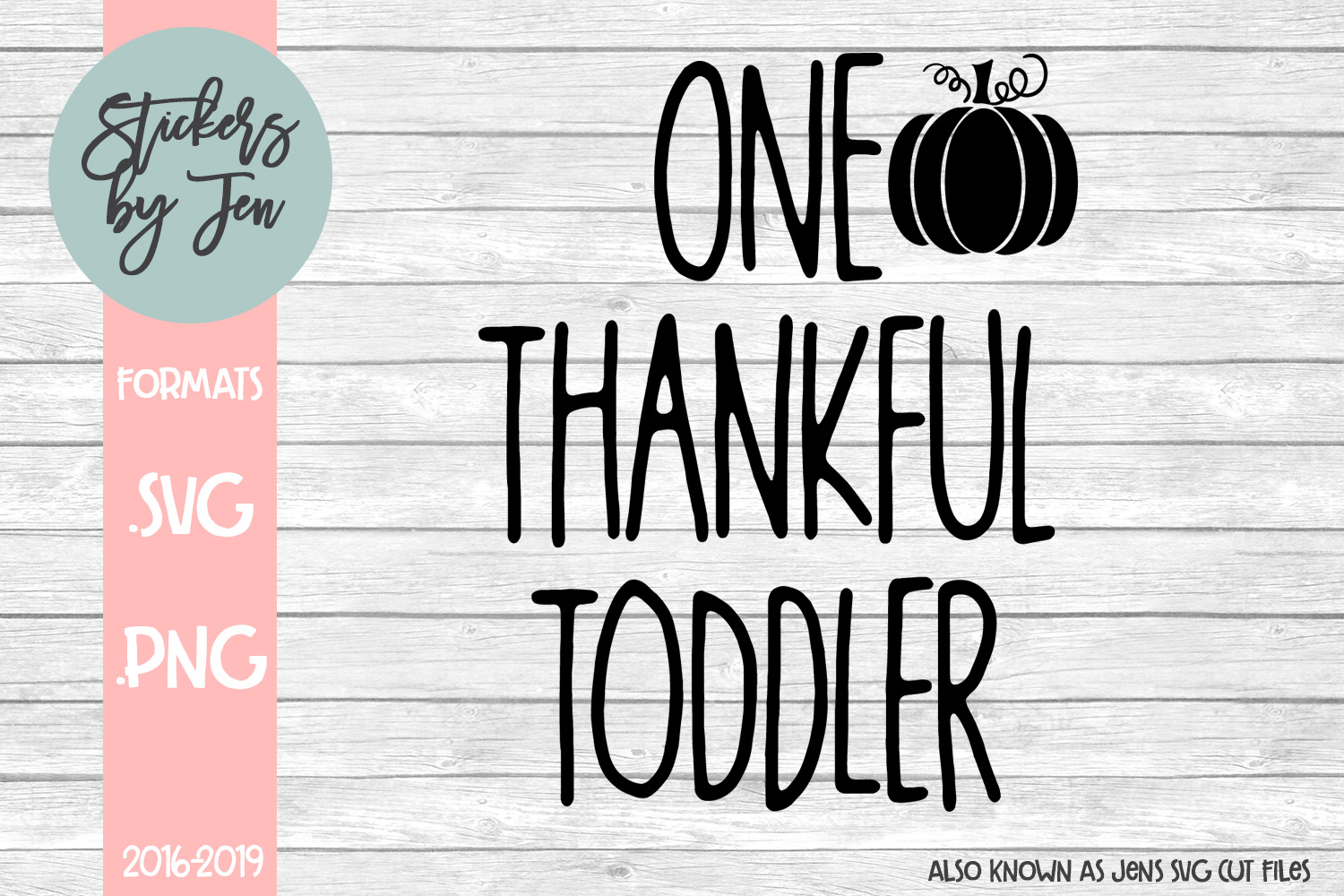 Download Free One Thankful Toddler Graphic By Stickers By Jennifer Creative for Cricut Explore, Silhouette and other cutting machines.